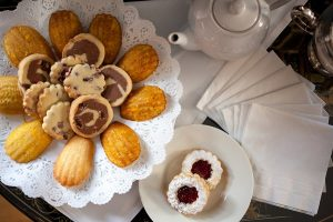 Tea and cookies at our Marblehead Inn