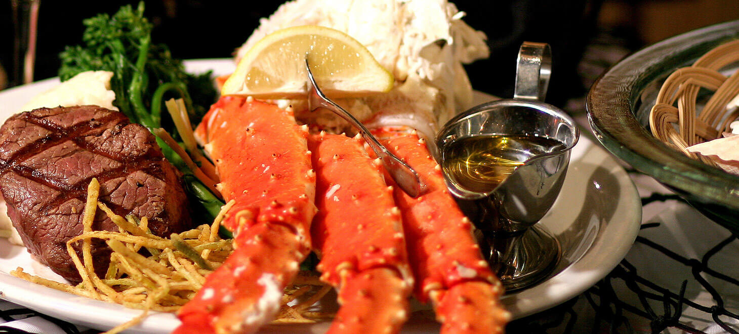 Seafood dinner is served at a restaurant in Marblehead, MA